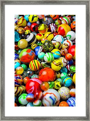 Wonderful Colored Marbles Framed Print by Garry Gay