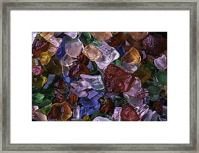 Wonderful Colored Sea Glass Framed Print by Garry Gay