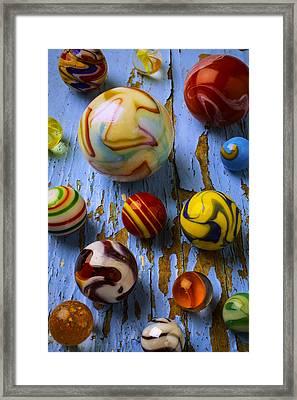 Wonderful Glass Marbles Framed Print by Garry Gay
