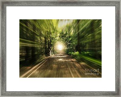 Wonderful Light At The End Of The Tunnel Framed Print by Carol Groenen