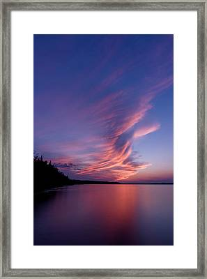 Framed Print featuring the photograph Wonderful Skeleton Lake Sunset by Darcy Michaelchuk