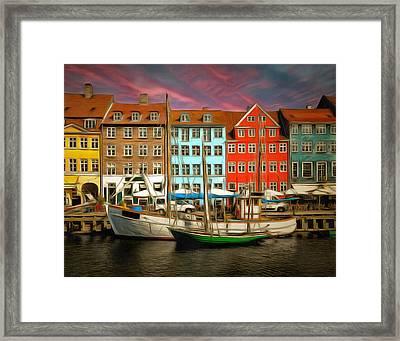 Wonderfulcwonderful Copehagan Framed Print