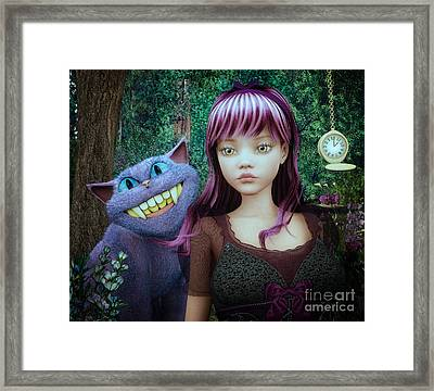 Wonderland Alice Framed Print by Jutta Maria Pusl