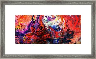 Wonderland - Colorful Abstract Art Painting Framed Print