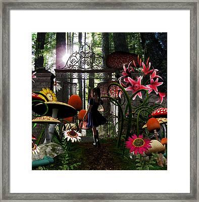 wonderland Mine Framed Print by Lisa Roy