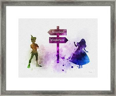 Wonderland Or Neverland Framed Print