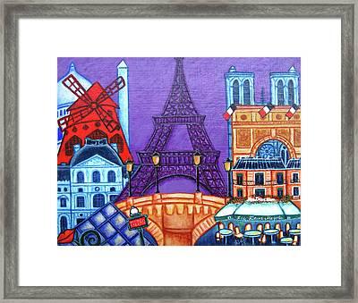 Wonders Of Paris II Framed Print by Lisa Lorenz