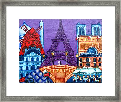 Wonders Of Paris Framed Print