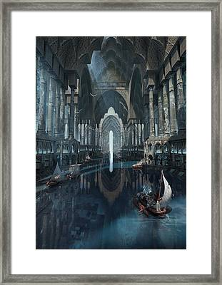 Wonders The Canal Of Isfahan Framed Print