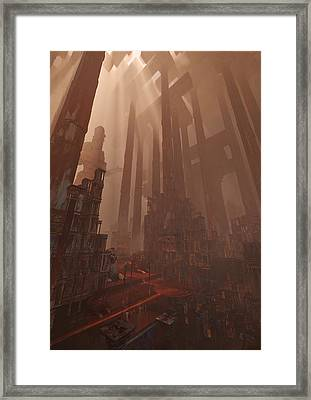 Framed Print featuring the digital art Wonders_temple Of Artmeis by Te Hu
