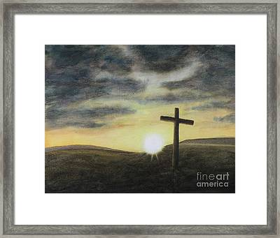 Wondrous Cross Framed Print