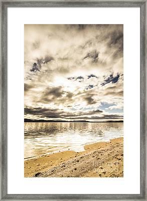 Wondrous Tropical Beach Framed Print