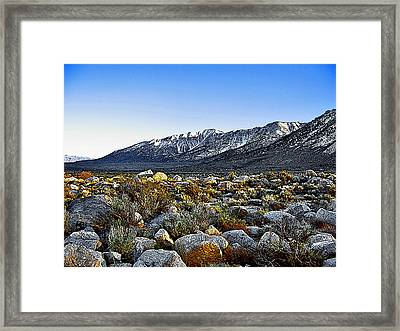 Framed Print featuring the painting Wonoga Peak by Larry Darnell