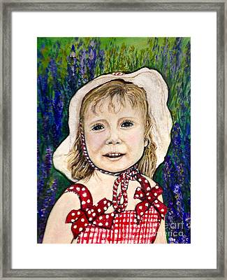 Won't You Be My Valentine? Cropped Framed Print by Kimberlee Baxter