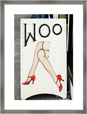 Woo Framed Print by Ethna Gillespie