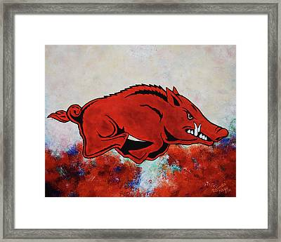 Woo Pig Sooie Framed Print by Belinda Nagy