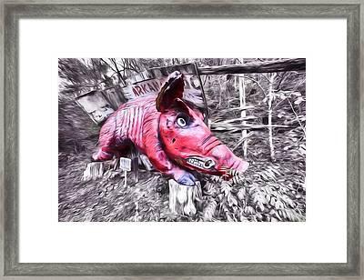 Woo Pig Sooie Digital Framed Print by JC Findley