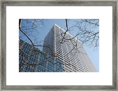 Framed Print featuring the photograph Wood And Glass by Rob Hans