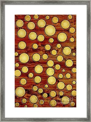 Wood And Gold Framed Print by Gaspar Avila