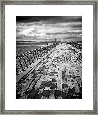 Framed Print featuring the photograph Wood And Pier by Perry Webster