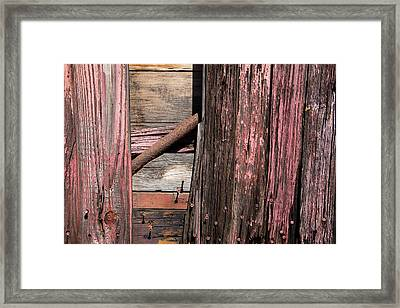 Framed Print featuring the photograph Wood And Rod by Karol Livote