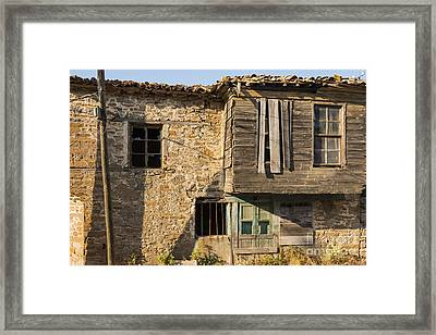 Wood And Stone Framed Print