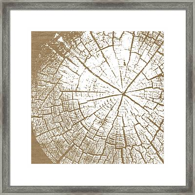 Wood And White- Art By Linda Woods Framed Print