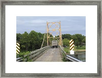 Wood Bridge Framed Print by John Adams