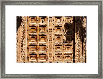 Wood Carved Doors Framed Print