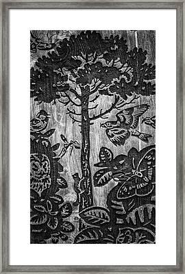 Wood Carvings Framed Print