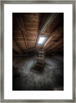 Wood Chair Framed Print
