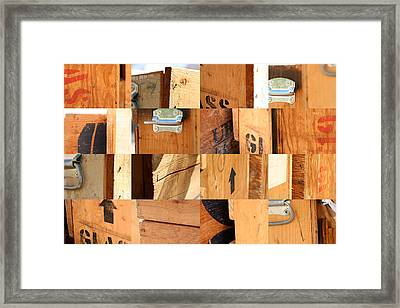 Wood Crates Framed Print