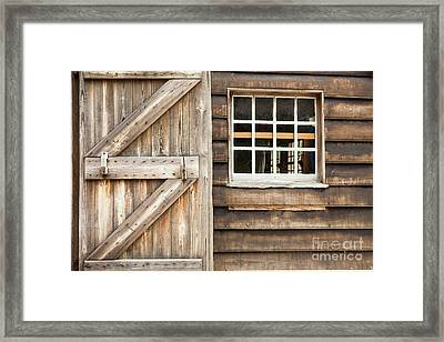 Wood Door And Window Framed Print