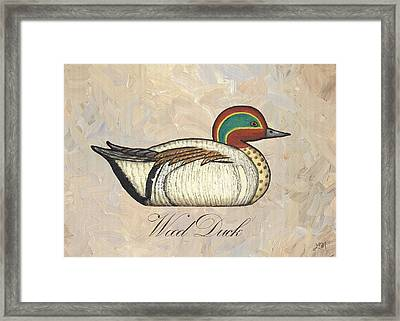 Wood Duck Framed Print by Linda Mears