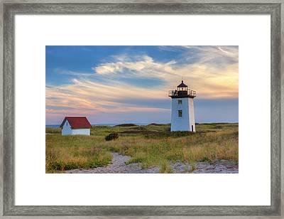 Wood End Light Cape Cod Framed Print