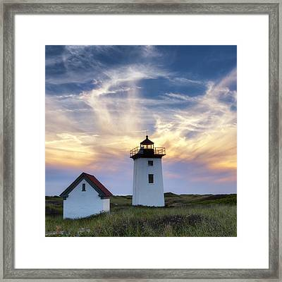 Wood End Light Square Framed Print