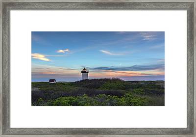Wood End Light Sundown Framed Print