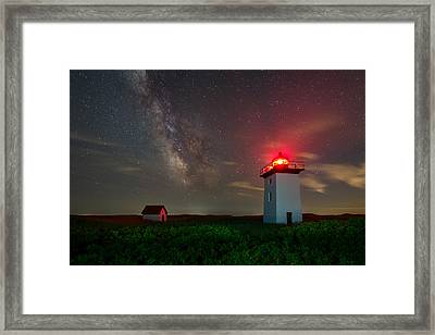 Wood End Nights Framed Print