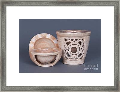 Wood Fired Ceramics Framed Print by Tracy Pickett