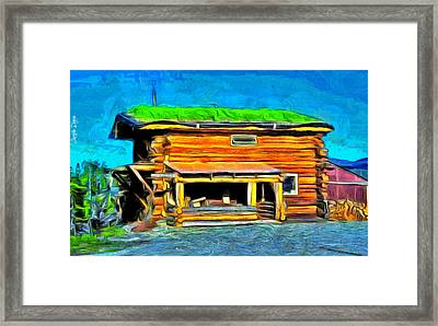 Wood House - Da Framed Print