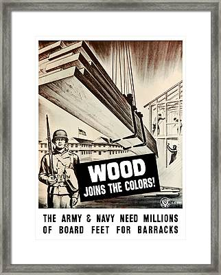Wood Joins The Colors - Ww2 Framed Print by War Is Hell Store
