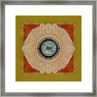 Wood Lace And Flowers Of Seed Popart Framed Print by Pepita Selles