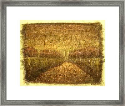 Wood Lake Sunrise Framed Print by Jaylynn Johnson