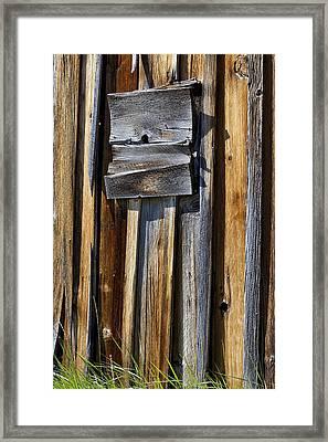Wood On Wood Framed Print by Kelley King