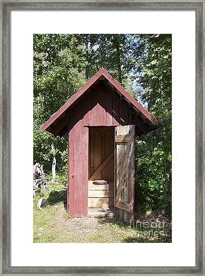 Wood Outhouse Framed Print