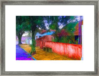 Wood Plank House In Rebelshire Framed Print by Caito Junqueira