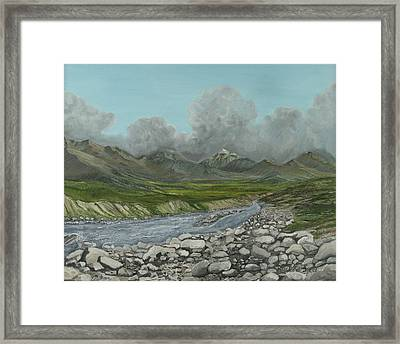 Wood River Storm Framed Print by Amy Reisland-Speer