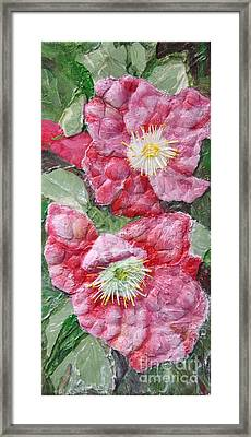 Framed Print featuring the painting Wood Roses by Terri Thompson