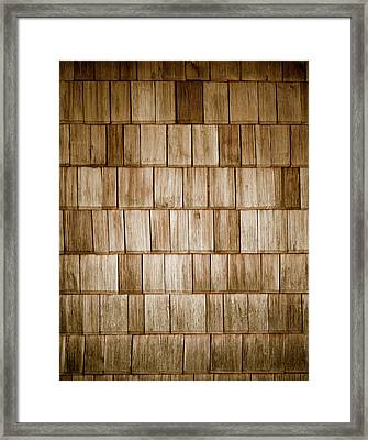 Wood Shingles Framed Print