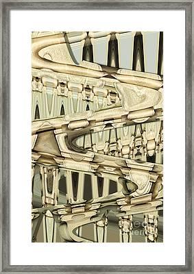 Wood Sine Framed Print by Ron Bissett
